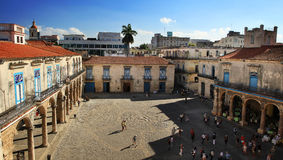 Plaza de la Catedral i havannacigarr Royaltyfri Fotografi