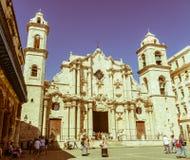 Plaza de la Catedral Inglês: O quadrado da catedral é um do f Imagens de Stock Royalty Free