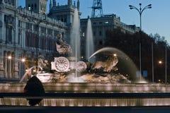 Plaza DE La Cibeles fontein Royalty-vrije Stock Afbeeldingen