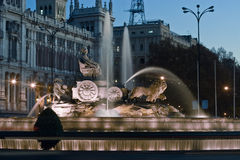 Plaza de la Cibeles fountain Royalty Free Stock Images