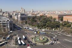 Plaza DE La Cibeles (het Vierkant van Cybele) stock foto