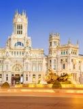 Plaza de la Cibeles Madrid Arkivfoto