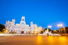 Plaza de la Cibeles Madrid Royaltyfria Bilder