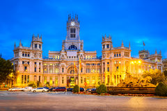 Plaza de la  Cibeles, Madrid, Spain Stock Photo