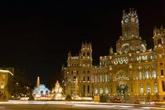 Plaza de la Cibeles, Madrid, Spanien Fotografering för Bildbyråer