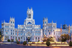 Plaza de la Cibeles by night Stock Photos