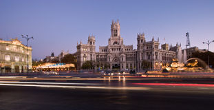 Plaza de la Cibeles Panorama Royalty Free Stock Images
