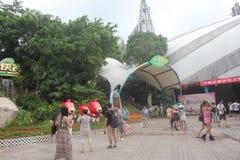 Plaza de la ciudad de los extranjeros de origen chino de ASIA, CHINA, Shenzhen Fotos de archivo