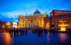 Plaza de la Ciudad del Vaticano Imagenes de archivo