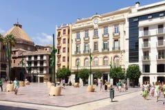 Plaza de la Constitucion, Malaga Fotografering för Bildbyråer