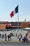 Plaza de la Constitucion in Mexiko City Lizenzfreie Stockbilder