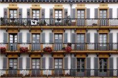 247 Plaza de la Constitucion, San Sebastian, Pais Basco Photos stock