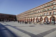 Plaza de la Corredera - Corredera fyrkant i Cordoba Royaltyfri Fotografi