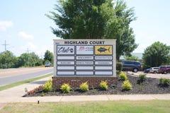 Plaza de la corte de la montaña, Hernando, Mississippi Imagen de archivo libre de regalías