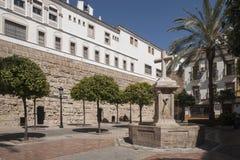 Plaza de la Encarnacià ³ n i Marbella Royaltyfria Bilder