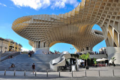 Plaza de la Encarnacion. The Metropol Parasol at the Plaza de la Encarnacion in Seville, Spain. Surprisingly this structure was free of crowds and appeared Royalty Free Stock Photos