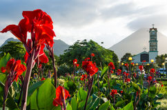 Plaza de La Fortuna in Costa Rica Stock Images