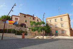 Plaza de la iglesia, Calafell town, Spain Royalty Free Stock Photo
