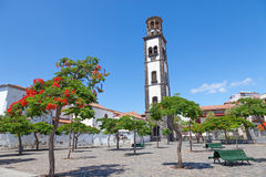 Plaza de la iglesia in santa cruz Stock Photography