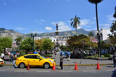 Plaza de La Independencia in Quito, Ecuador. Plaza de la Independencia Square, in front of the Palacio de Carondelet, in the historical center of Quito, Ecuador stock photos
