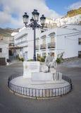 Plaza de la Localidad, Senes村庄 免版税库存照片
