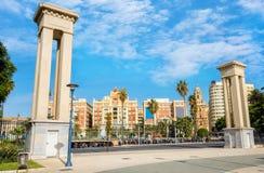 Plaza De La Marina in der historischen Mitte von Màlaga Andalusien, Kosten lizenzfreie stockbilder