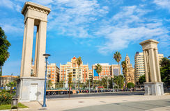 Plaza De La Marina in historic center of Malaga. Andalusia, Cost Royalty Free Stock Images