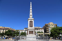 Plaza De La Merced In Malaga, Andalusia, Spain Royalty Free Stock Photos