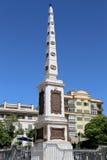 Plaza DE La Merced in Malaga, Andalusia, Spanje stock foto