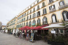 Plaza de la Merced, Malaga, Spain Royalty Free Stock Photos