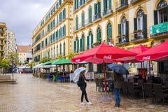 Plaza de la Merced, Malaga, Spanien royaltyfria bilder