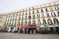 Plaza de la Merced, Malaga, Spanien arkivfoto