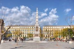 Plaza DE La Merced, Malaga, Spanje stock fotografie