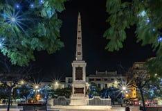 Plaza DE La Merced, Malaga, Spanje royalty-vrije stock foto