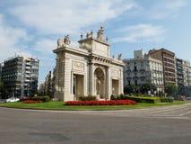 Plaza de la Puerta del Mar. Valencia, Spain Stock Image