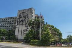 Plaza de la révolution, Cuba Image stock