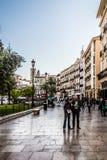 Plaza DE La Reina in Valencia Stock Afbeelding
