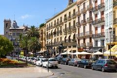 Plaza de la Reina In Valencia Stock Photography