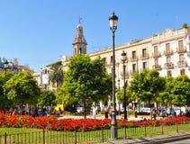 Plaza de la Reina in Valencia, Spain Stock Image