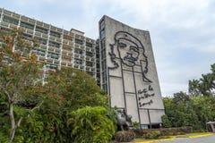 Plaza de la Revolución (Revolution Square), Havana, CubaJosé Martí Memorial in Revolution Square, Havana. Ministry of Interior building in Plaza de la royalty free stock photos