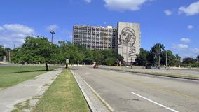 Plaza de la Revolucin -革命正方形-正方形在哈瓦那,古巴- comunism的标志在古巴 影视素材