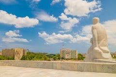 Plaza de la Revolucion在哈瓦那,古巴 免版税库存照片