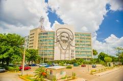 Plaza de la Revolucion在哈瓦那,古巴 免版税图库摄影