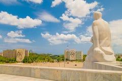 Plaza de la Revolucion在哈瓦那,古巴 库存图片
