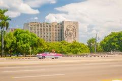 Plaza de la Revolucion在哈瓦那,古巴 库存照片