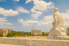 Plaza de la Revolucion在哈瓦那,古巴 免版税库存图片
