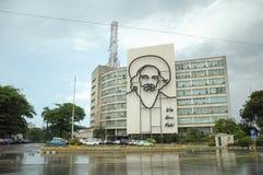 Plaza de la Revolucion i havannacigarren, Kuba Arkivfoton