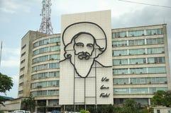 Plaza de la Revolucion i havannacigarren, Kuba Arkivbilder
