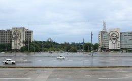 Plaza de la Revolucion/revolutionfyrkant, havannacigarr, Kuba Fotografering för Bildbyråer