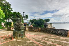 Plaza de la Rogativa, San Juan viejo, Puerto Rico Fotografía de archivo